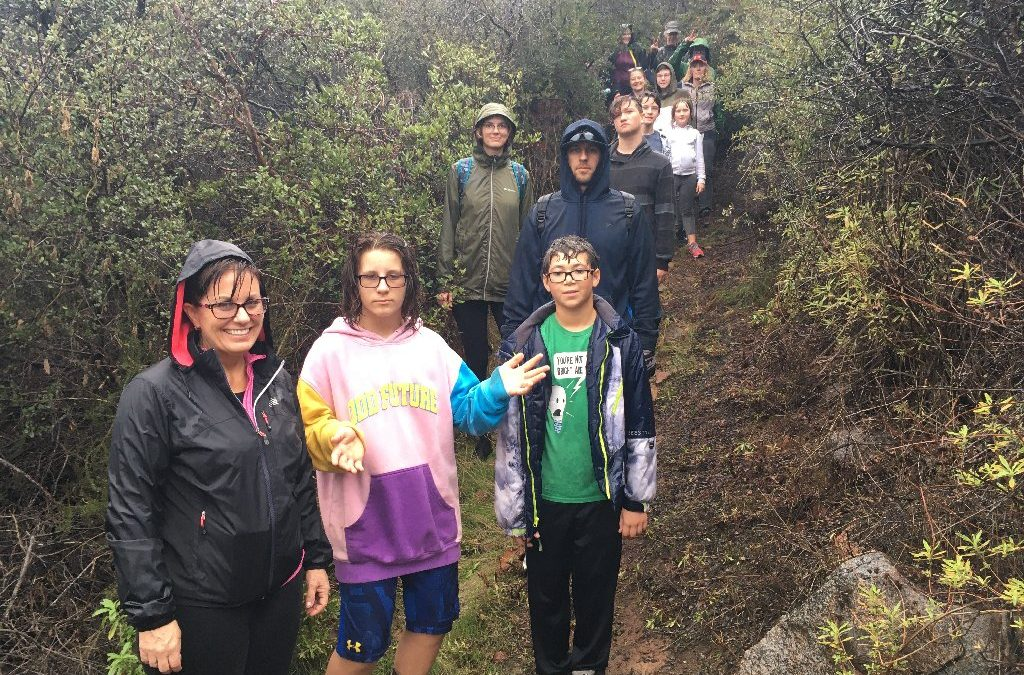 Rainy day fun on the Santa Margarita Ecological Reserve Chaparral Hike