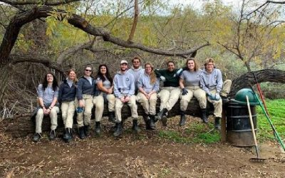 AmeriCorps team stay on the Santa Margarita Ecological Reserve and help local environmental communities