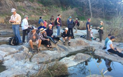 Early Morning Hikers Enjoy a Docent-led Hike on the Santa Margarita Ecological Reserve